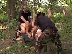 Short-haired blondie gets her tight wet pussy fucked real hard
