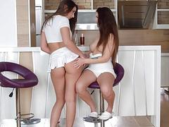 Morning drink by Sapphic Erotica  Angelina Brill and Carla Cruz lesbians