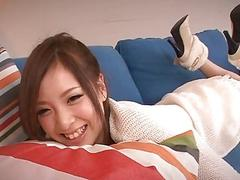 Japanese shares her snatch with different cocks