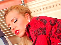 blonde delights a steamy rimjob for a foreplay ahead of a rough doggystyle bonking