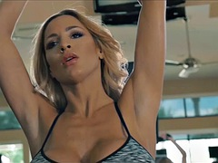 jordan carver - sexy sweaty workout