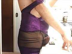 crossdresser fav purple dress