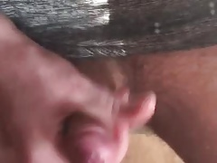 Young stud cumshot in mirror