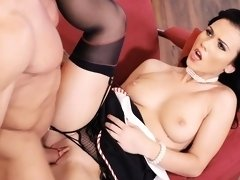 Hot Hungarian pinup babe Denise Sky gets her ass cum covered in hot fuck