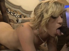 Tight blonde punk girl dped by black dudes on the bed