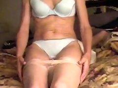 Mature wife facesitting on cam