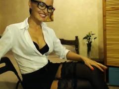 Hot Secretary Double Penetration On Webcam