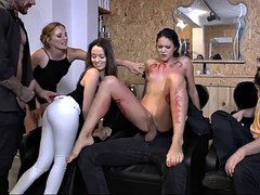carolina abril gets degraded in public and fucked at private party