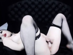 Russian Goth Webcam SLut Masturbating