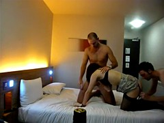 Hot threesome with two guys and a horny girl