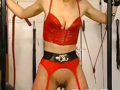 Rough whipping and slave sex of tied up amateur su