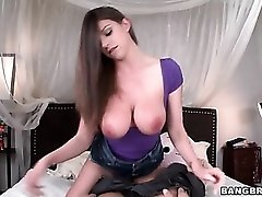Sucking beautiful big tits of Brooklyn Chase