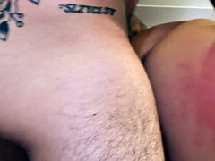 tattooed slut takes bigcock in her pussy