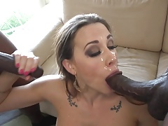 Chanel gets two black cocks inside her