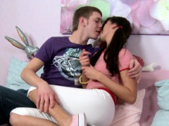 Teens creampie drips out