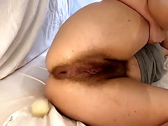 Culo farting plumper Assbandida frolicking with her fuckholes