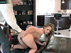 Crazy honey, Kristina Rose got pulverized in the butt in the living apartment, until she came
