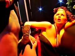 Slutty pornstars fucking hard in casino games