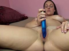 brunette milf melanie hicks is fucking her big blue toy