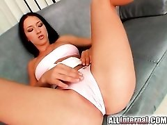 Fit and flexible girl fucked in tight pussy