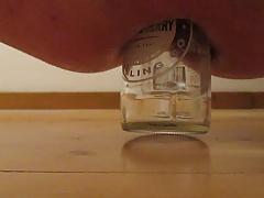 Anal insertion glass bottle