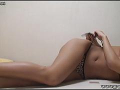 Tanned Skin Japanese Girl Shion Fujimoto's Yoga