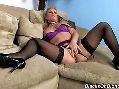 Flower Tucci fucks huge black dick