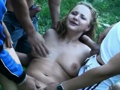 Aroused blond college hoe gets fucked