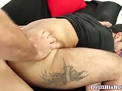 Unmerciful gay top getting cock ridden by bottom cherry