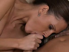 awesome blowjob and tit fuck in the morning by gorgeous jennifer dark