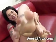 Hot white pornstar feet for black dick