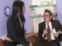 Lustful older teacher is seducing babes beaver