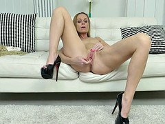 Charming babe Nica likes toying herself while being alone