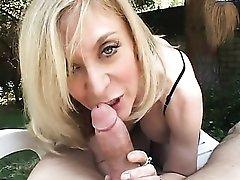 POV lingerie sex with a true blonde milf beauty