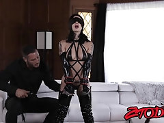 Submissive inked girl gets spanked and fucked by her master