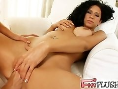 Fist Flush Sweet hotties can't keep hands out of holes