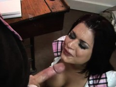 Ravishing Latina has her trimmed twat nailed