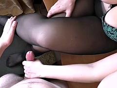 ar handjob pantyhose