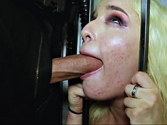 mila marx sucking the big cop's cock in prison cell