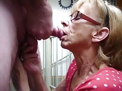 Grannie love cum