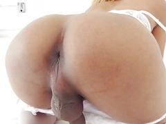 Sexy blonde tranny fucked her partner