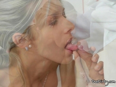 Horny Tracy sucks the dirty doctors cock