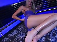 Ashley Long takes a deep cock fucking on her knees