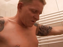 German Guy Fucks his Sexy Wife in the Bathroom