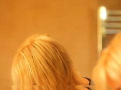 Blonde teenie Montoe teasing clit
