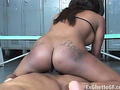 Candice gets fucked in the locker room