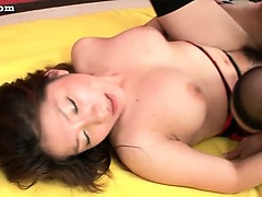 Teen asian in stockings gets fucked