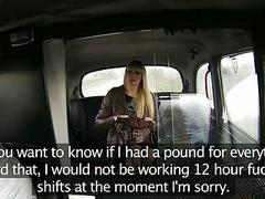 Blonde European babe nailed in the cab