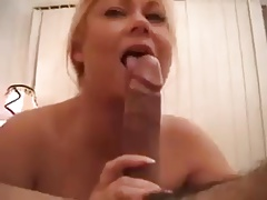 Huge melons blonde gets fucked.