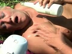lesbian granny plumper outdoor orgy